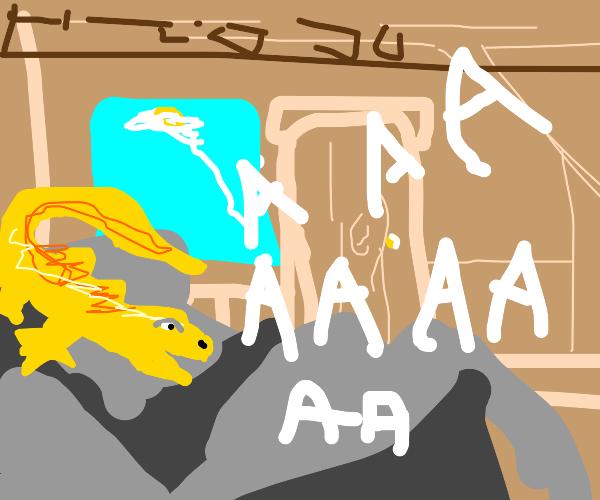 screaming lizard