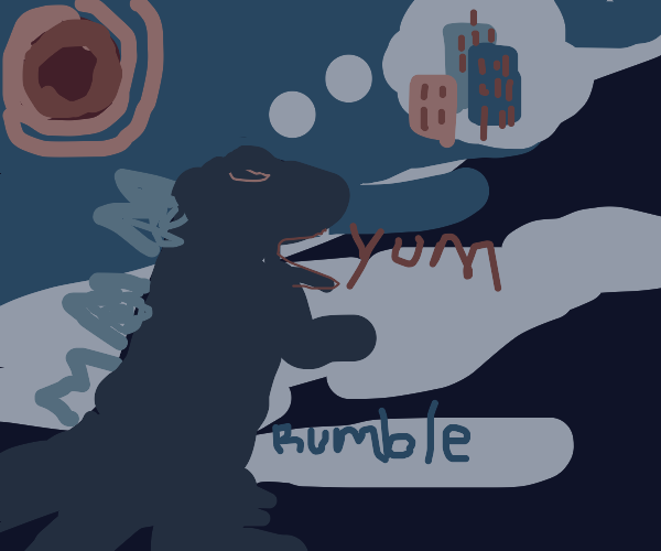 Godzilla is hungry for buildings