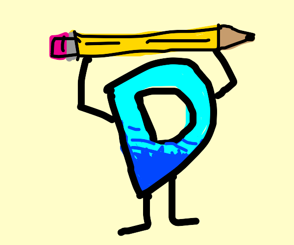 Drawception lifting a weight but its a pencil