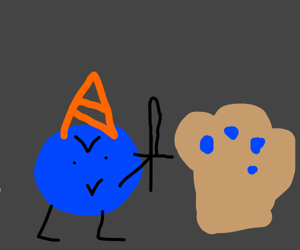 Partying blueberry kills blueberry muffin