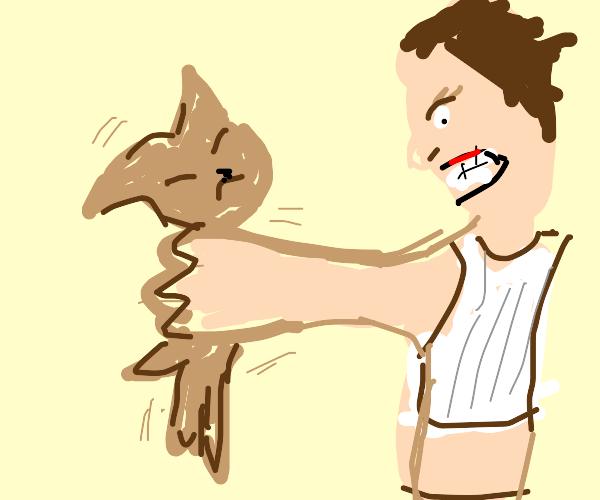 violent angry shaking chihuahua