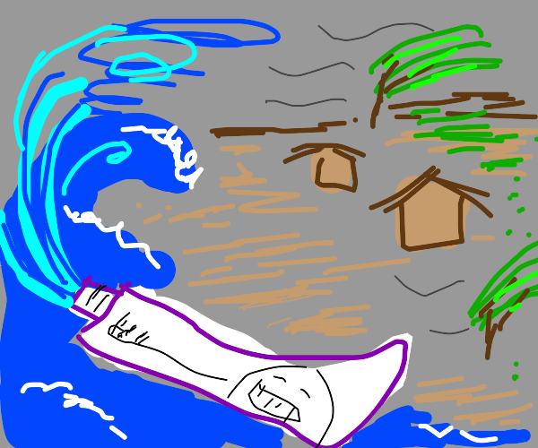 Toothpaste typhoon
