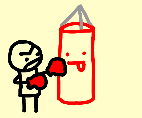 silly punching bag
