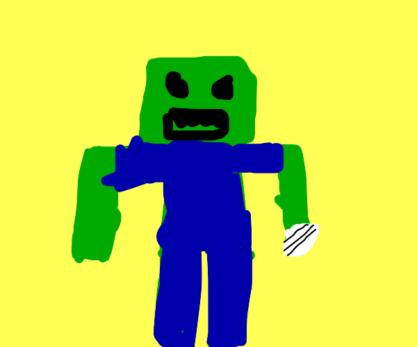 Zombie with a broken finger