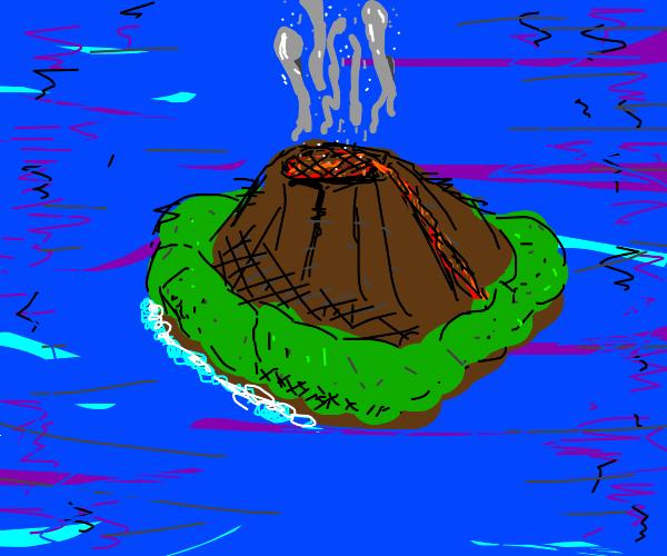 Island volcano eruption, Super tragic!