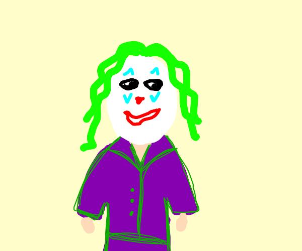 Joker forcing a smile