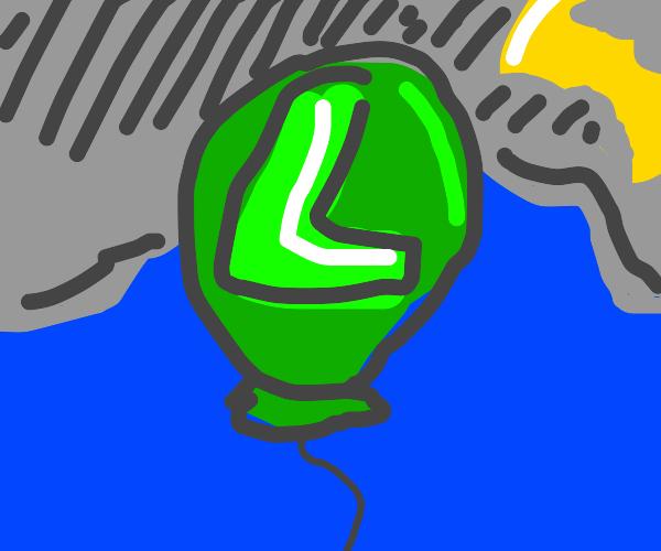 Luigi Balloon floats away