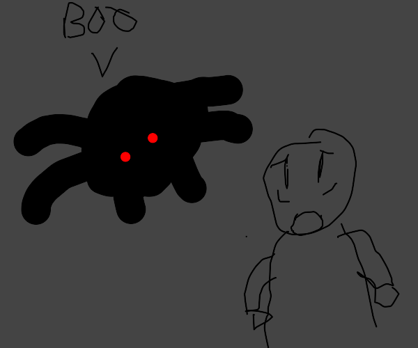 """Giant spider scares guy by saying """"boo"""""""