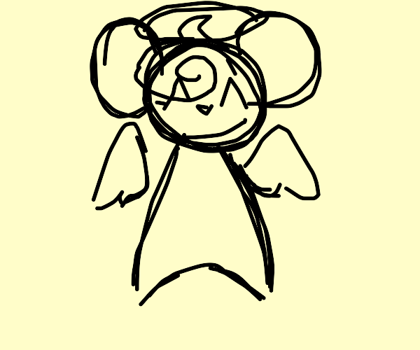 Angel mouse loves peace