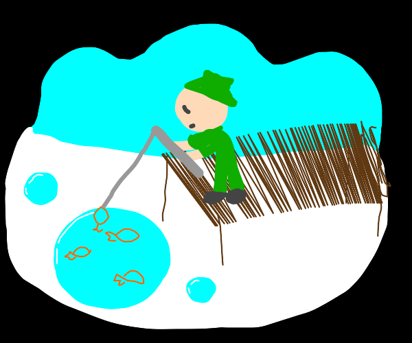 fishing in a world where water is balls