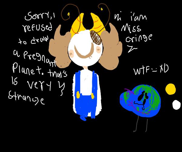 pregnant planet