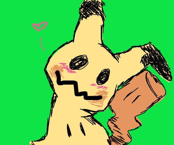 Mimikyu greets you