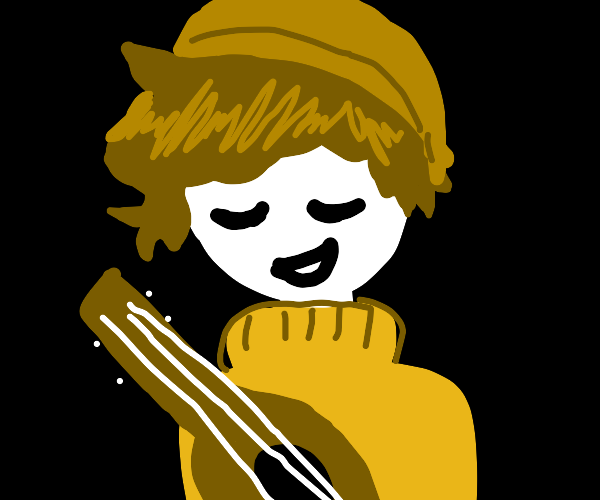 spooky ghist with ukelele