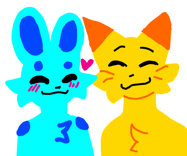 two furries in love