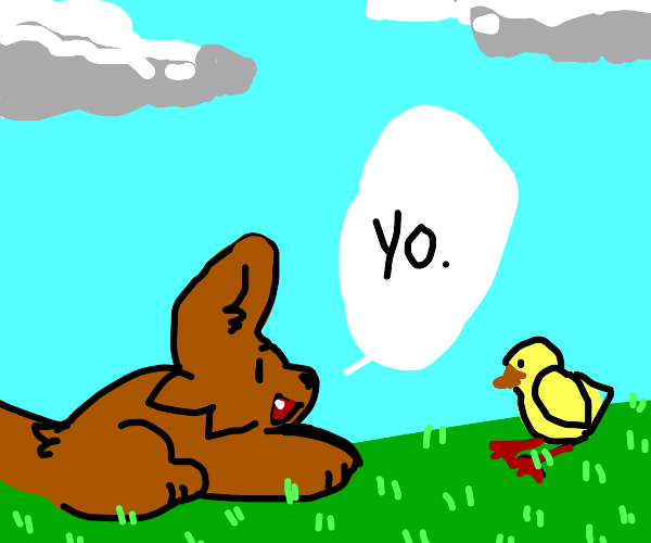 yo said the dog to a duck