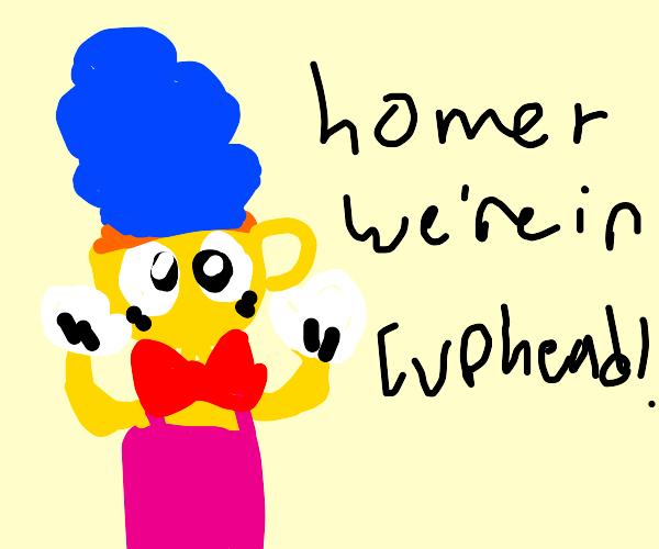 Homer, we're in cuphead!