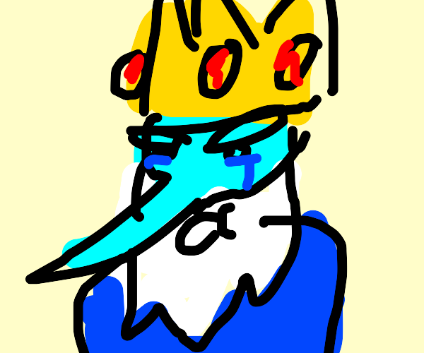 Adventure Time King cries