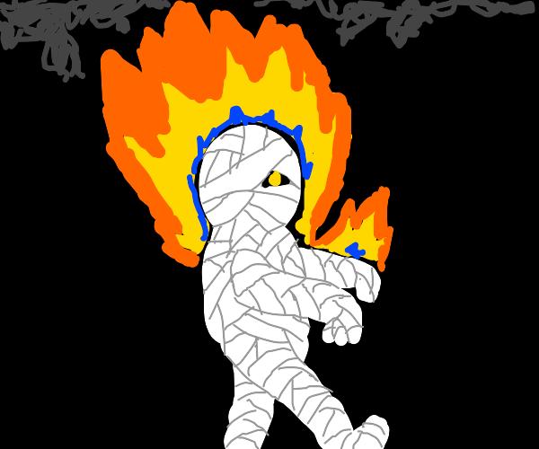 Mummy in a Fire
