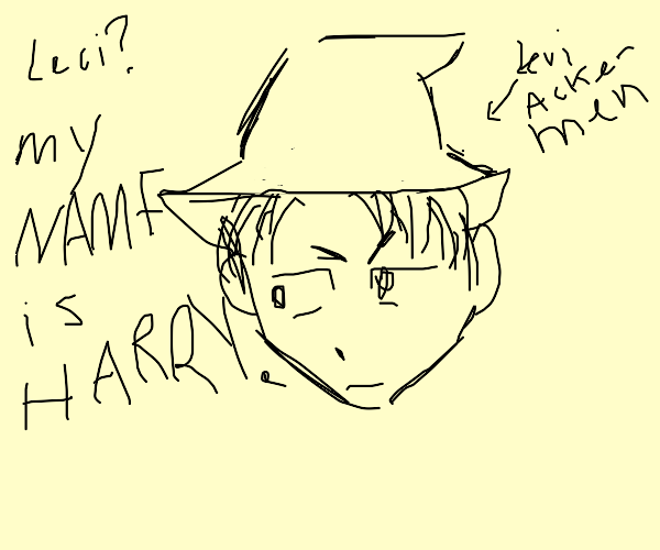 AoT Levi obsessively rping as Harry Potter