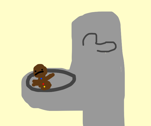 Gingerbread person becomes poop