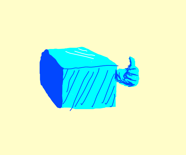 block gives thumbs up