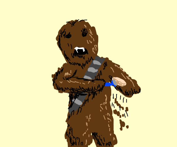 Chewbacca decides to start Shaving Everything