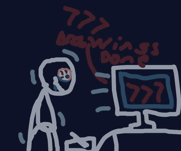 I've drawn 777 drawings! Woo hoo!