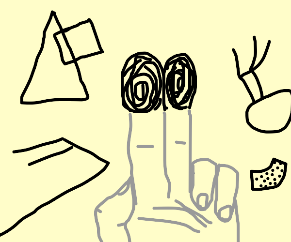 Holding two fingers on the screen abstractart