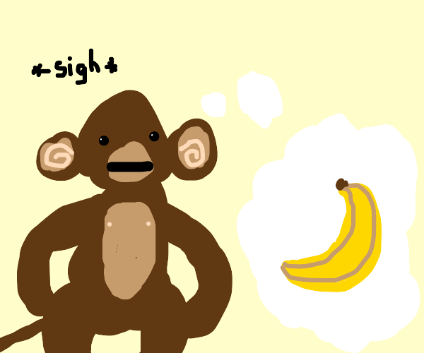 Monkey wants banana