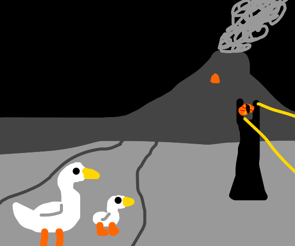 Seagull and son trek to mordor