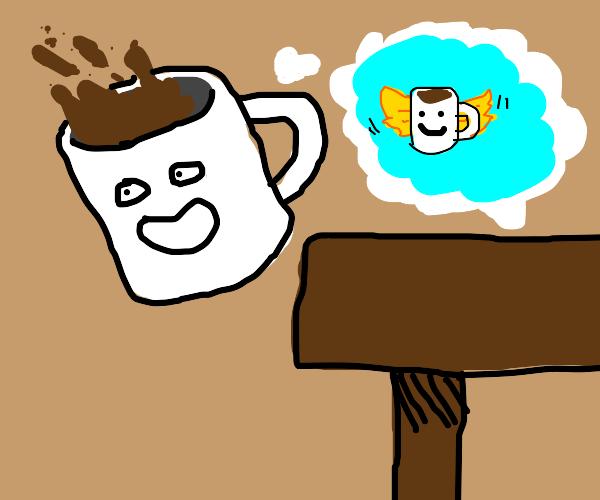 Coffee Mug believes it can fly