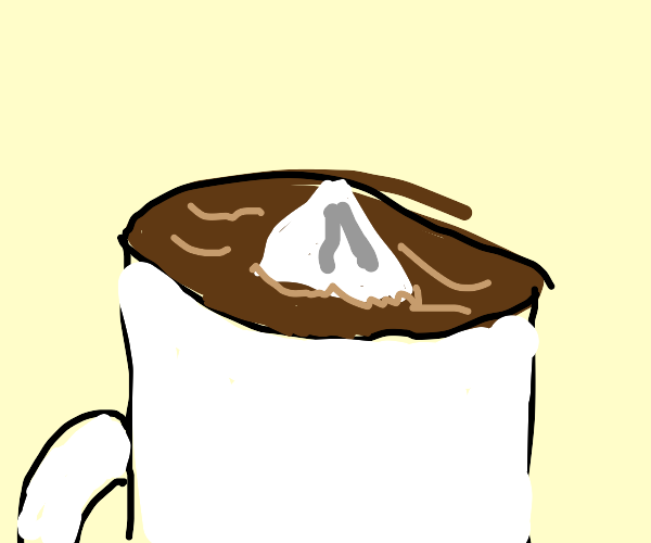 Iceberg in a sea of coffee