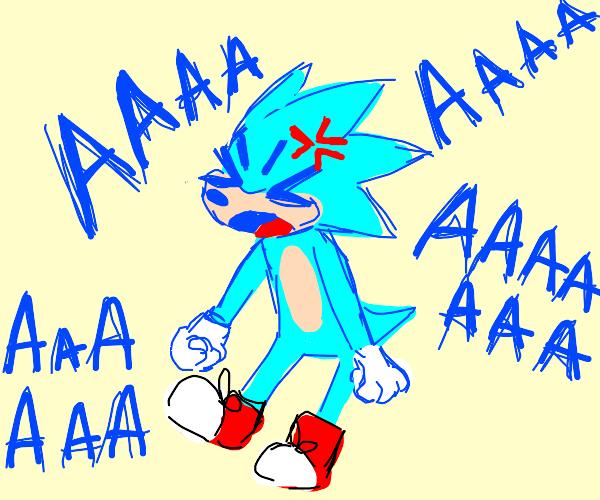Cyan sonic screams