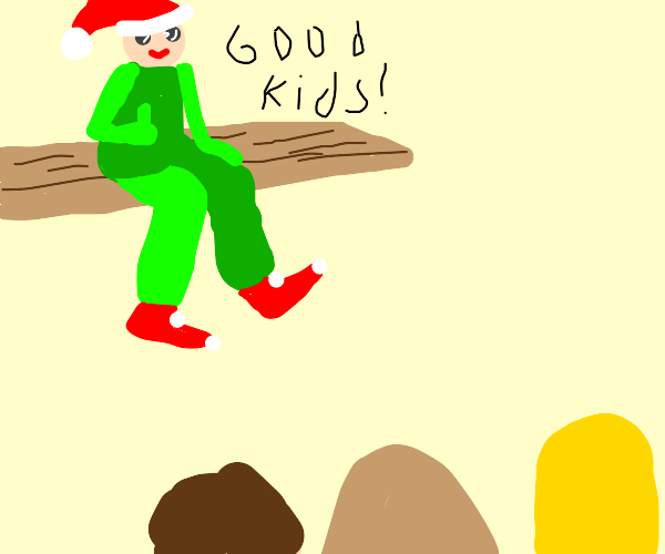 Elf on the shelf congratulates children