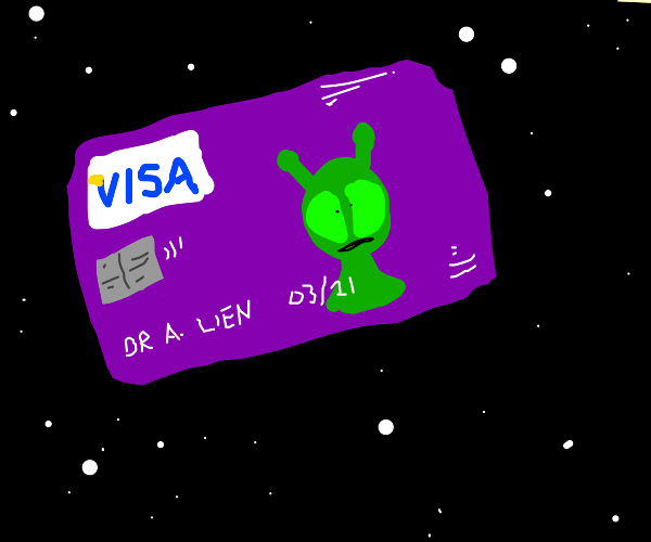 Alien in credit card