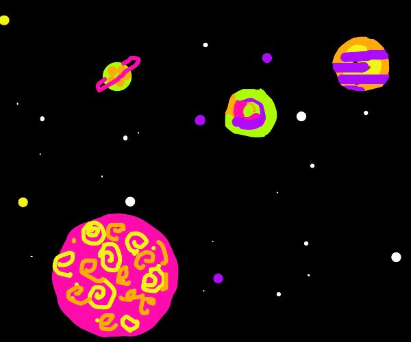 Psychedelic Intergalactic Solar System