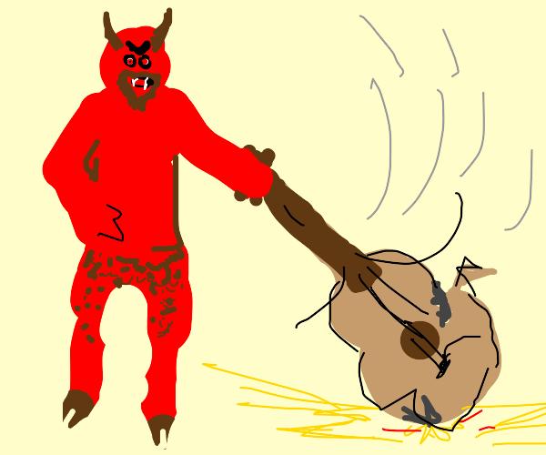 Demon hates guitar