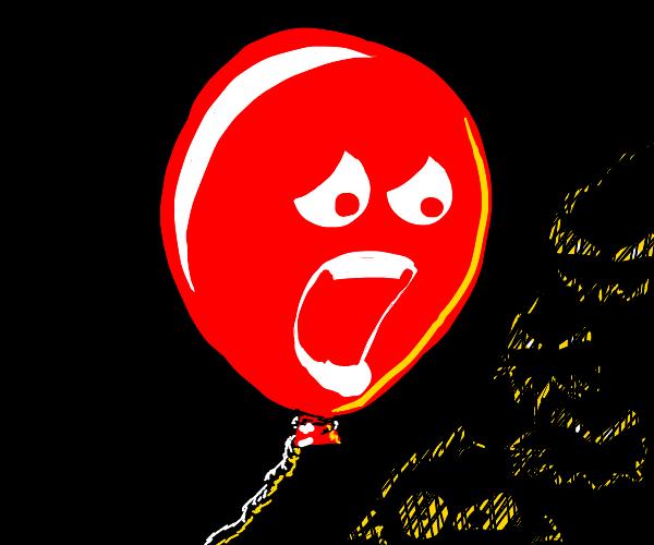 Scared Balloon