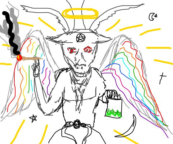 hippie goat God