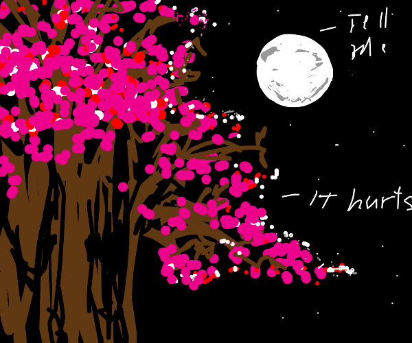 moon has a therapy sesh with a tree therapist