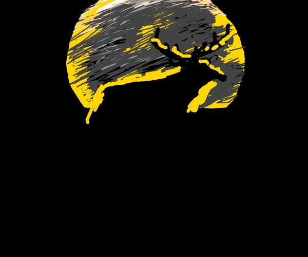 a deer in the moonlight