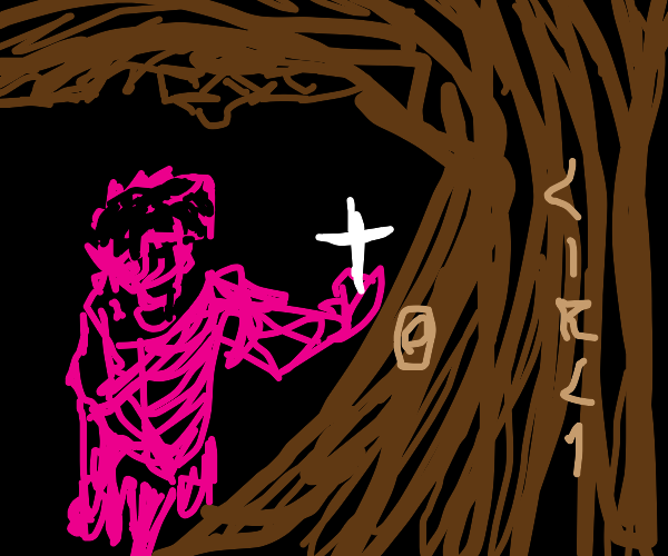 sexy pink christian ninja attacks wiccan tree