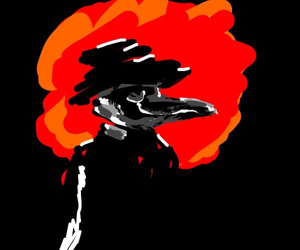 Plague Doctor too cool for explosion