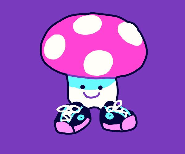 Mushroom wearing Shoes