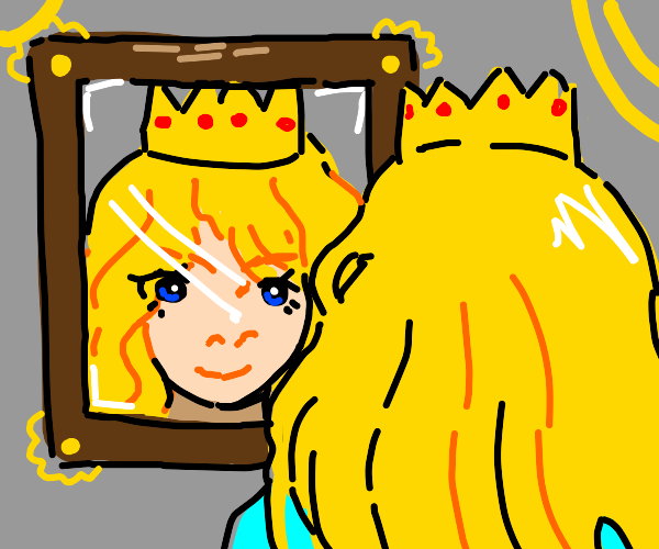 princess looking in the mirror