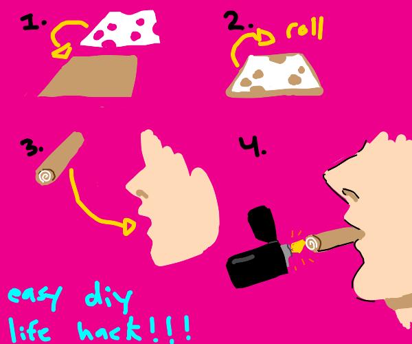 how to smoke swiss cheese