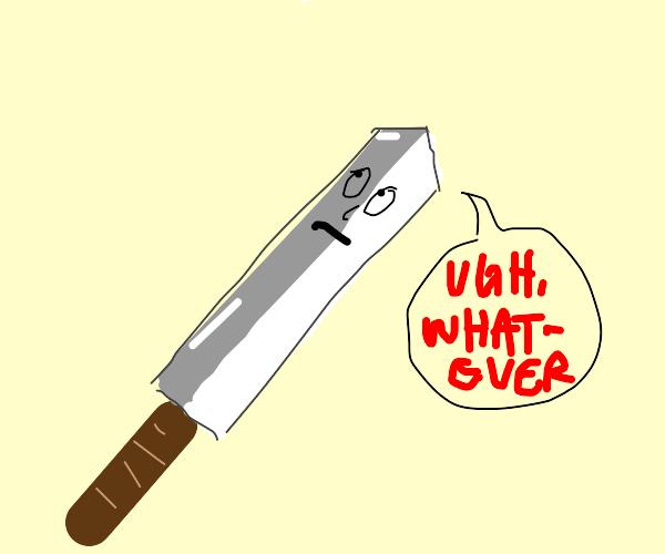 A judgemental sword
