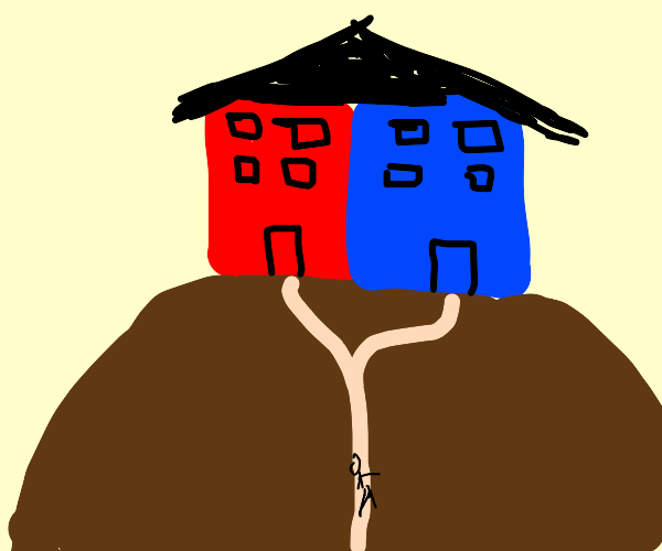 double house on the hill