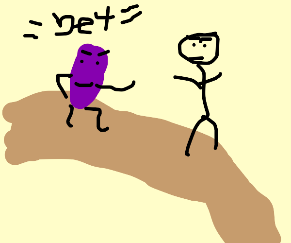 purple pickle challenges guy