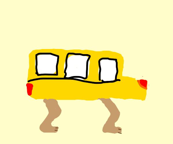 The legs on the bus go walk walk walk